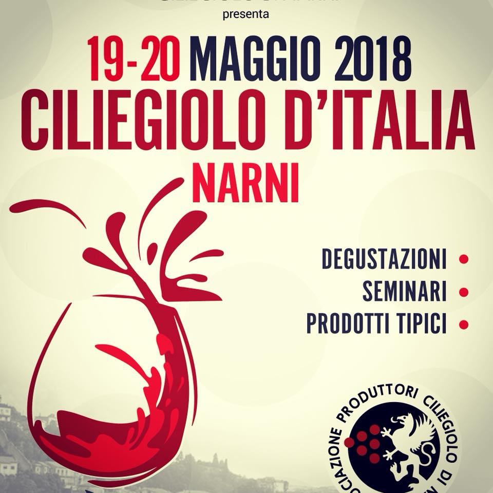 Ciliegiolo d'Italia a Narni il 19 e 20 Maggio 2018