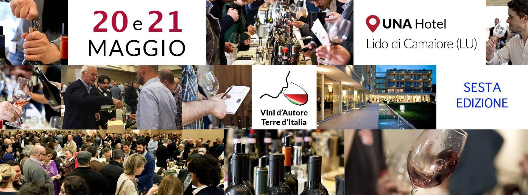 Il 20 e 21 maggio la sesta edizione di Vini d'Autore-Terre d'Italia