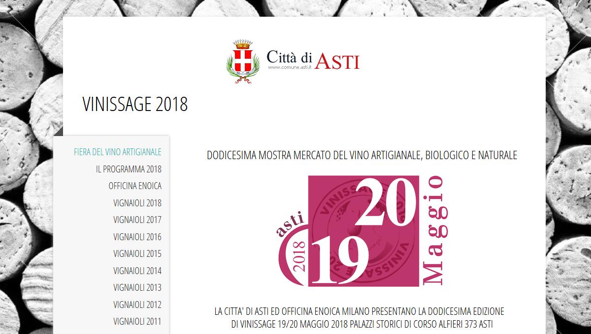 VINISSAGE 2018 - DODICESIMA MOSTRA MERCATO DEL VINO ARTIGIANALE, BIOLOGICO E NATURALE