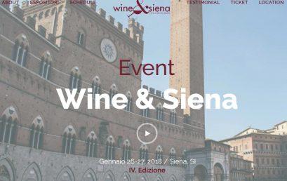 Wine&Siena 26-27-28 Gennaio